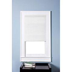 Overstock has great prices on cellular blinds (also called honeycomb blinds). I think these would be great in your living room because they are simple and give you privacy while allowing light to filter in.