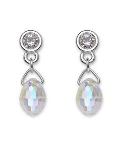 Swarovski Earrings, Crystal Drop