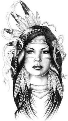 Explore collection of Native American Indian Drawings Native American Drawing, Native American Tattoos, Native Tattoos, Native American Girls, Native American Pictures, Native American Artwork, Indian Pictures, American Indian Art, American History