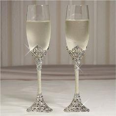 Toasting Flutes - CelebrationItem # 246-FL3001 | Toasting Flutes - Celebration - 246-FL3001 - Olivia Riegel