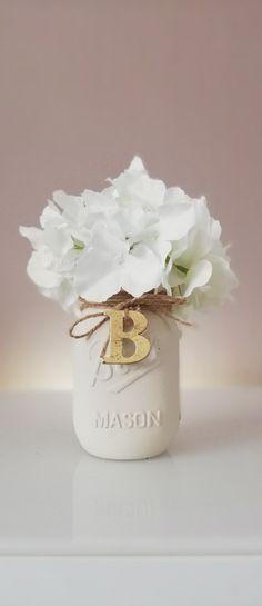 Mason Jar Centerpieces / Wood Crate / Dried Flower Arrangement Hydrangea / Home Decor Farmhouse / Aesthetic Room Decor / Vase / Planter Box / Set of 3 Vases / Mantle decor / Our First Home Gift