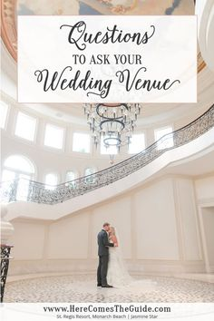 Questions to Ask Your Wedding Venue http://www.herecomestheguide.com/wedding-party-ideas/detail/questions-to-ask-your-wedding-venue/
