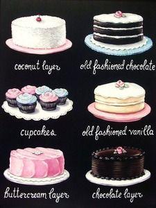 vintage bakery inspired menu board