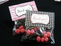 Party Favor Bag Toppers Pink Zebra Diva by PrintCreateCelebrate, $8.00