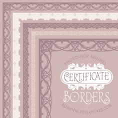 Efeito Photoshop: Certificate Borders Free Brush Set