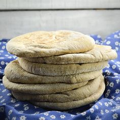 Healthy Pita Bread - great as a substitute for white pita, sandwich bread, toast or pizza crust