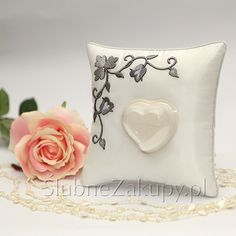 PODUSZKA na obrączki Cinderella  #slub #wesele #sklepslubny #dekoracje #slubnezakupy Throw Pillows, Toss Pillows, Cushions, Decorative Pillows, Decor Pillows, Scatter Cushions