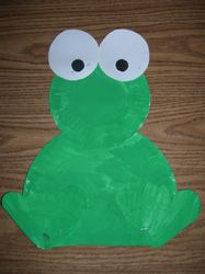 Sitting Frog Paper Plate