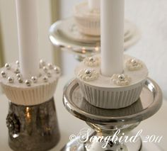 how to make cupcake candle holders from plaster