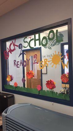 Preschool back to school Window display
