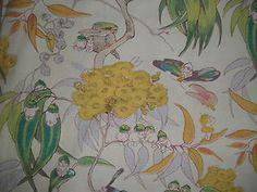 Vintage rare Cecilla May Gibbs 1926 'Gumnut babies' fabric circ Mabel Attwell