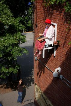 Old People Appear Floating Over Montreal - Arts & Lifestyle - The Atlantic Cities