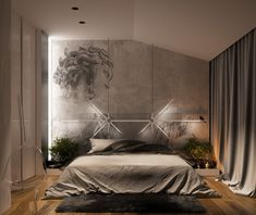 Explore the best mesmerizing Modern Bedroom Wall Design Ideas at Live Enhanced. Visit for more images and take some ideas about Bedroom Wall Design. Minimalist House Design, Minimalist Interior, Minimalist Bedroom, Modern Bedroom, Trendy Bedroom, Master Bedroom, Bedroom Wall Designs, Home Decor Bedroom, Bedroom Ideas