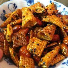 Nori Furikake Chex Mix food recipes, furikak chex, appet, foods, yummi, furikake chex mix, mochi adventur, snack, nori furikak
