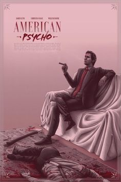 screenprinted poster of a film classic - American Psycho, based on the novel by Bret Easton Ellis. For Hero Complex Gallery's 2019 Horror Show and 2019 NY Comic-Con line-up. Scary Movies, Horror Movies, Good Movies, Horror Art, Play Poster, Movie Poster Art, Best Movie Posters, Film Posters, Pink Movies