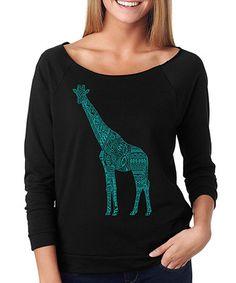 Another great find on #zulily! Black Giraffe Reglan Tee #zulilyfinds