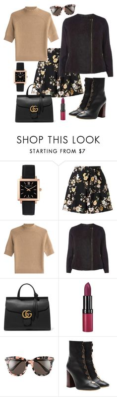 """""""winter day ❄❄❄❄"""" by jasive-asseff-jamous ❤ liked on Polyvore featuring Larsson & Jennings, Miss Selfridge, Theory, Dorothy Perkins, Gucci, Rimmel, Gentle Monster and E L L E R Y"""