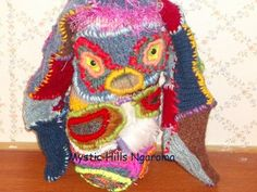 Rabbit Fiber Art Doll by MysticHillsNgaroma on Etsy