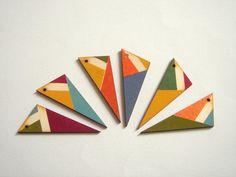 Hand geschilderd hout Hangers doe-het-zelf ketting door LiKeBeads8