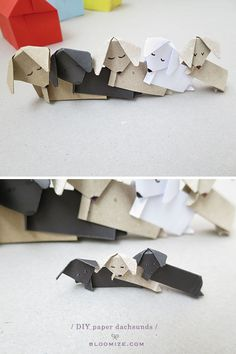 diy paper dachshund puppies and kennel