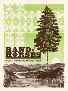 Band Of Horses | Knoxville, TN 2012 | Design: Status Serigraph