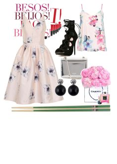 """""""Muchos besos"""" by glam-girl1 ❤ liked on Polyvore featuring MAC Cosmetics, Chi Chi, Dorothy Perkins, WithChic, Rochas and Chanel"""
