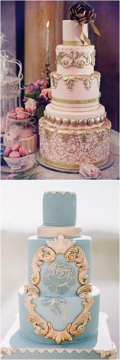 vintage baroque wedding cakes #weddings #vintageweddings #weddingideas #weddingcakes