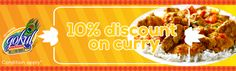 10% discount on curry