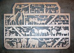 Noah's Ark scroll saw wall decor