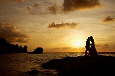 Beautiful Romantic Sunset photo by Saab Weddings at Half Moon Resort.