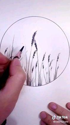 Art Drawings Beautiful, Art Drawings Sketches Simple, Realistic Drawings, Easy Drawings, Easy Nature Drawings, Landscape Pencil Drawings, Pencil Art Drawings, Oil Pastel Art, Simple Nature Drawing