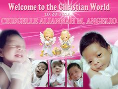 Criscelle Christening Page Borders Design, Border Design, Layout Design, Tarpaulin Design, Christian World, Christening, Party Supplies, Balloons, Projects To Try