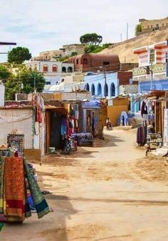 El hermoso pueblo nubio ( Gharb Sohail ). Aswan