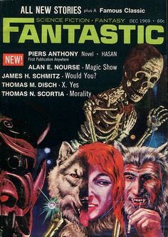 scificovers: Fantastic December 1969. Cover by Johnny Bruck....