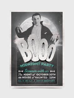 Halloween Flyer/Invitation by Soledad Martínez, via Behance