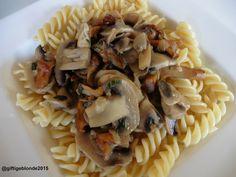 #tierfreitag: Pasta mit Eierschwammerl und Champignons   giftigeblonde