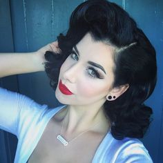 Miss Victory Violet. My love for pinup makeup.