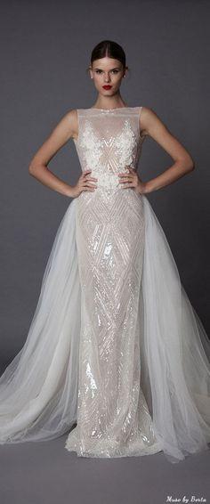 Muse by Berta Wedding Dress ANNORA 2   Deer Pearl Flowers