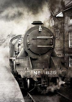giftvintage: jefferylewis: No 825, NYMR, Grosmont, England. by 2c.. on Flickr.