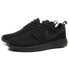 Nike Roshe Run Splatter Pack Running Shoes All Black