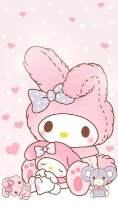 Sanrio Wallpaper, Hello Kitty Iphone Wallpaper, My Melody Wallpaper, Soft Wallpaper, Kawaii Wallpaper, Wallpaper Iphone Cute, Wallpaper Stickers, Sanrio Hello Kitty, Hello Kitty My Melody