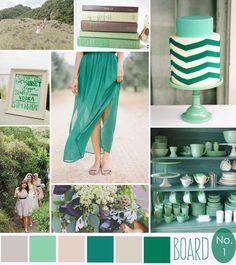 Shades of Green - emerald, jade