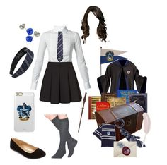 """""""Back to Hogwarts - Ravenclaw"""" by briony-jae ❤ liked on Polyvore featuring Dsquared2, Topshop, Levi's, Elope, Incipio, Wigwam, Charlotte Russe and Swesky"""