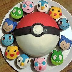 tortas pokemon go + 12 cupcakes..unicos en el mercado!!!