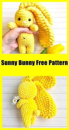 Hi everyone. Today I will share with you the Sunny bunny amigurumi crochet pattern, which is a very cute plush character. There are many amigurumi plush animal patterns on our blog for you, our followers. There are also many toy doll molds as amigurumi. Our site has a section for friends who are just starting to knit amigurumi. You can learn the crochet pattern quite easily. You can easily knit the free amigurumi pattern by following the steps described in the pattern. Easter Crochet Patterns, Crochet Bunny Pattern, Crochet Amigurumi Free Patterns, Mode Crochet, Diy Crochet, Crochet Crafts, Kawaii Crochet, Crochet Designs, Creations