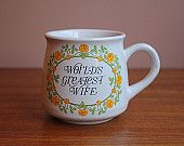 Vintage 'World's Greatest Wife' Ceramic Giftcraft Mug