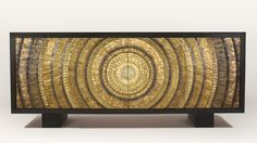 Beacon Credenza - Recycled brass bullet casings in sunburst pattern