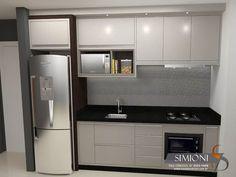 Cozinha moderna Kitchen Room Design, Kitchen Sets, Home Decor Kitchen, Interior Design Kitchen, Kitchen Furniture, Home Kitchens, Compact Kitchen, Modern Kitchen Cabinets, Cuisines Design