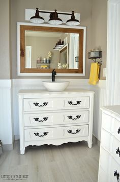 Today I am sharing the step-by-step process we used to turn an old dresser into a bathroom vanity. We used this process on two dressers for our master bathroom renovation and I could not be happier with how they turned out. Please keep in mind we are not experts, this is simply the process we used. I'm sure...Continue Reading