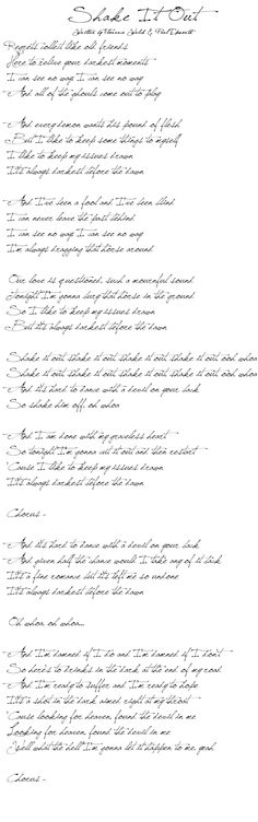 florence shakeItOut lyrics Florence + The Machine   Shake It Out (Lyrics)